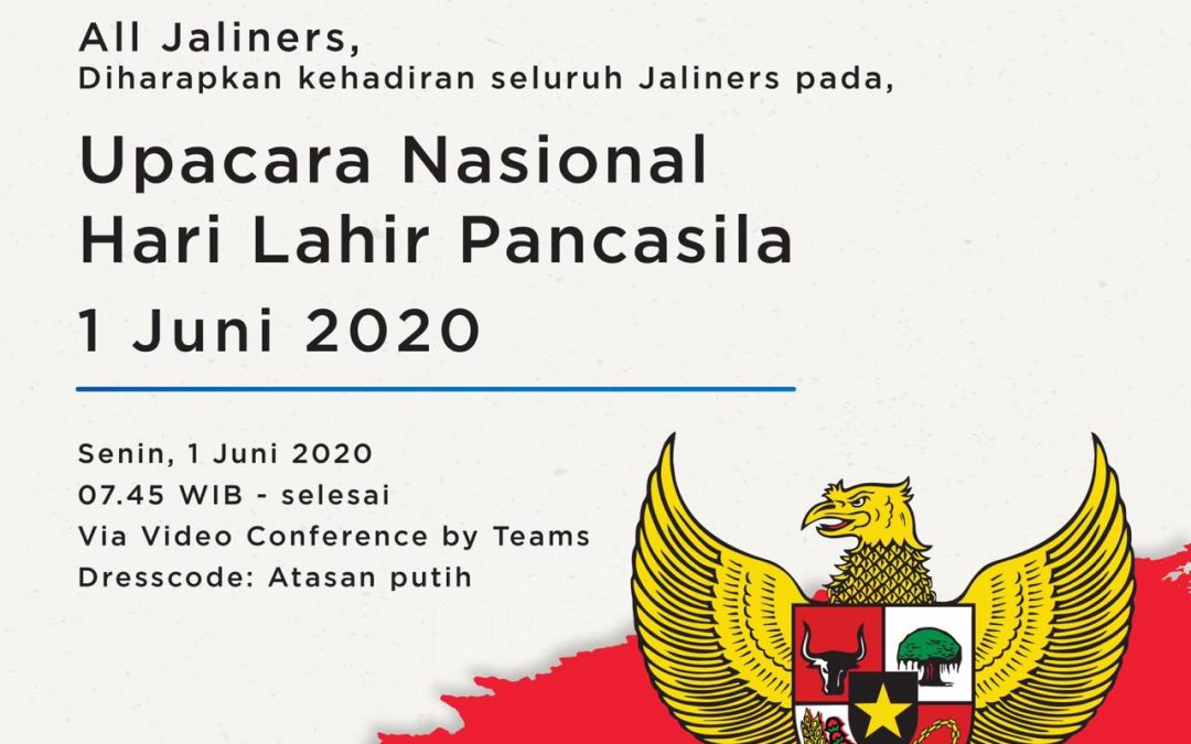 Jalin Held an Online Ceremony to Lift the Spirit for Pancasila Day